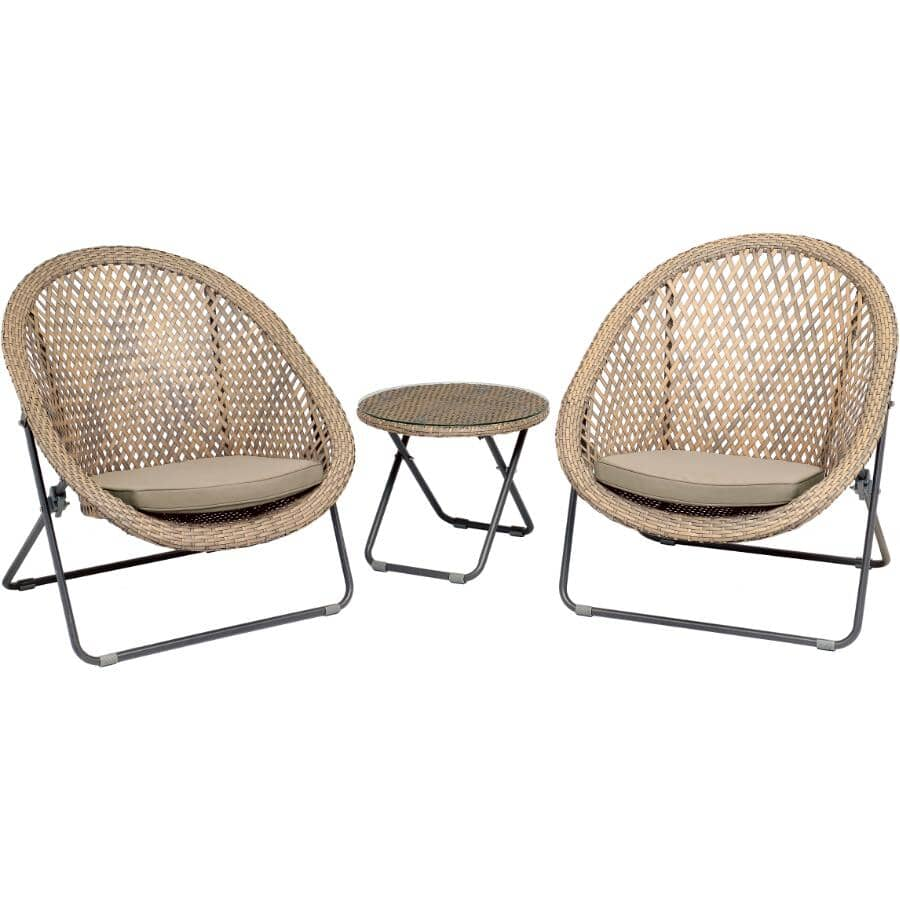 DURA:3 Piece Florence Chat Set, with Cushions