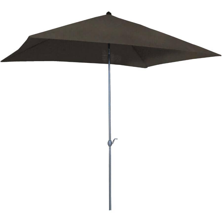 INSTYLE OUTDOOR:Parasol de marché Hudson brun, 10,5 pi