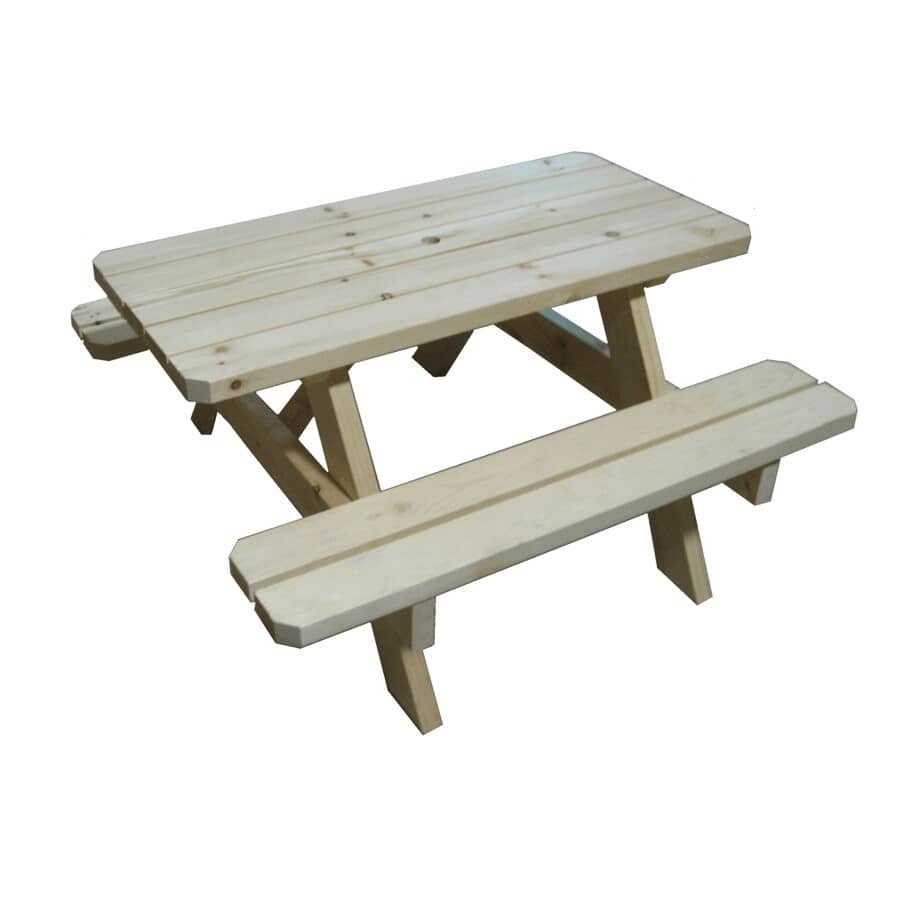 4B WOOD PRODUCTS:Unfinished Children's Pine Picnic Table