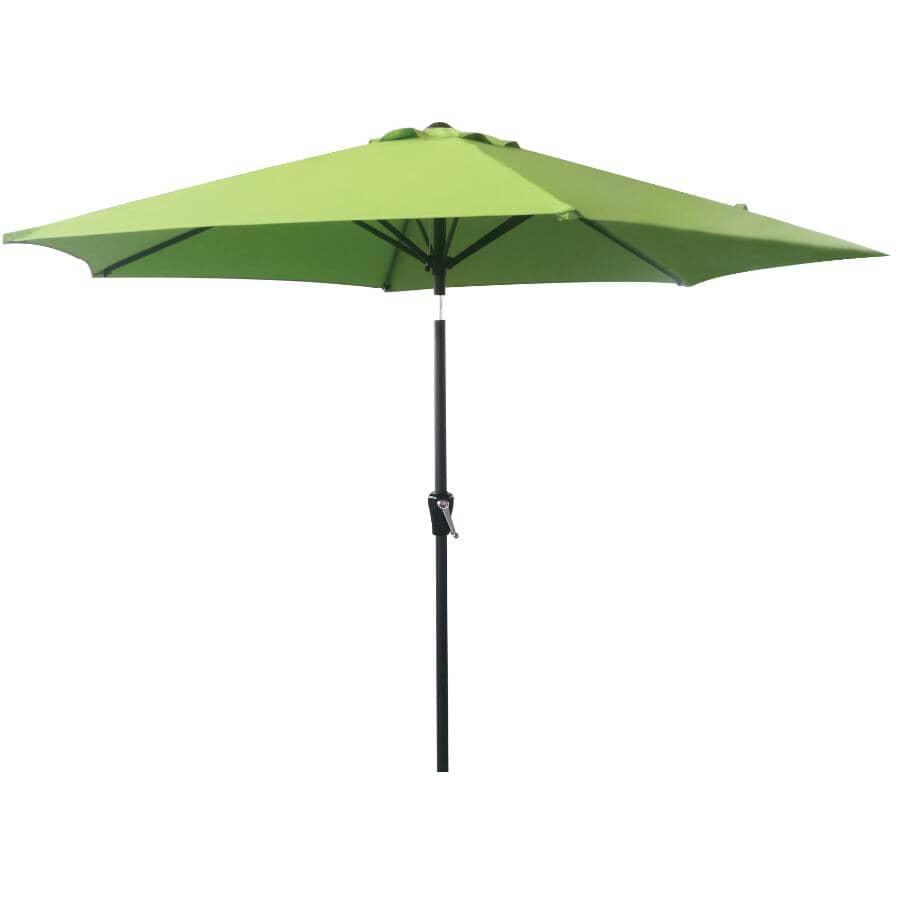INSTYLE OUTDOOR:9' Greenery Tilt and Crank Market Umbrella