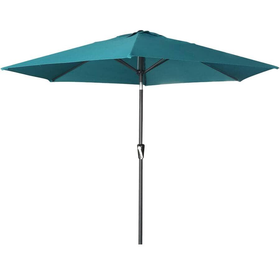 INSTYLE OUTDOOR:9' Green/Blue Slate Tilt and Crank Market Umbrella