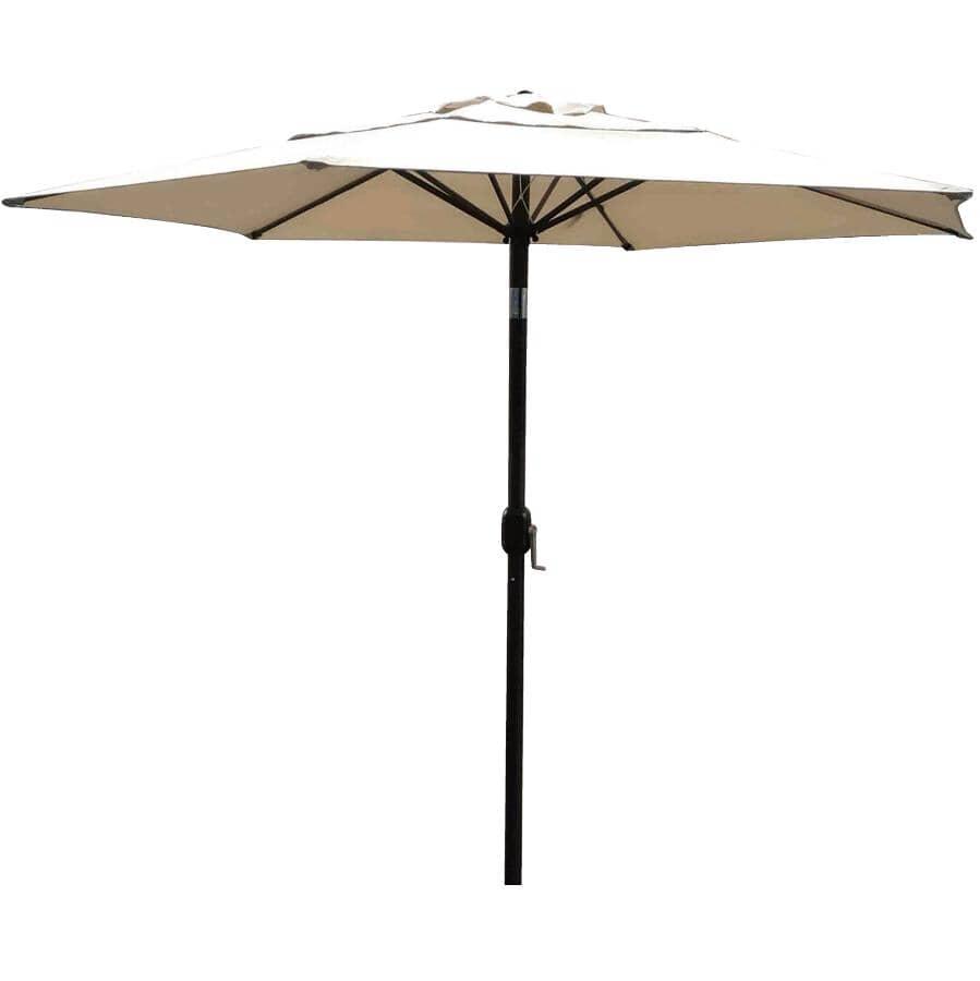 INSTYLE OUTDOOR:9' Sunpoly Tilt and Crank Market Umbrella - Beige