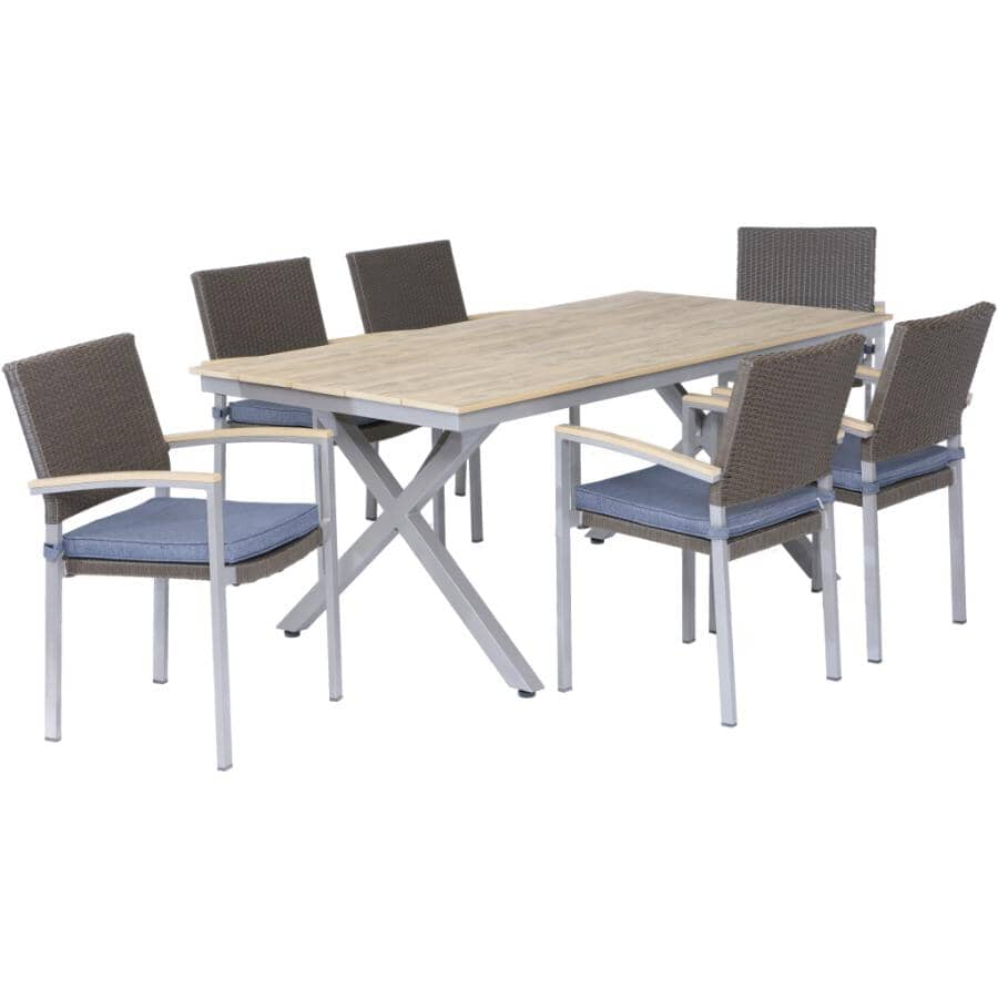 DURA:Tremblant Dining Set - with Cushions, 7 Piece