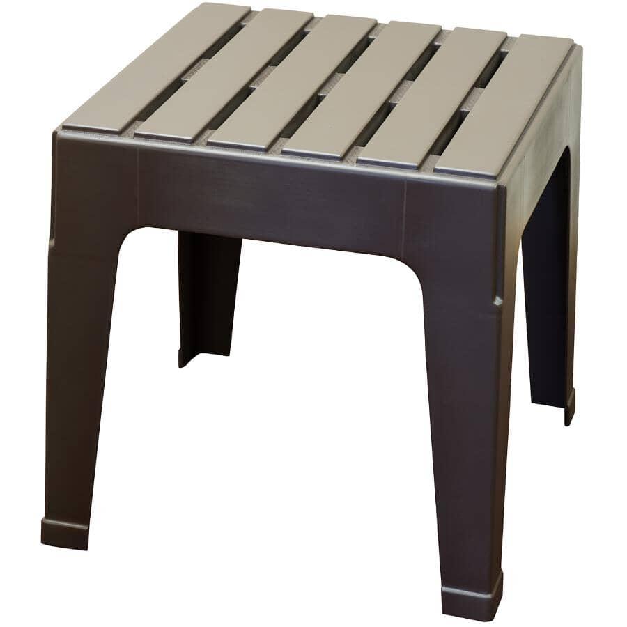 ADAMS:Earth Brown Big Easy Resin Stack Side Table