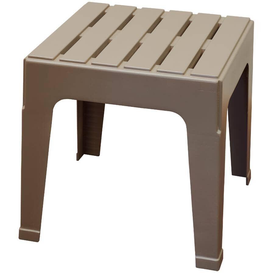 ADAMS:Table d'appoint empilable Big Easy en résine, portobello