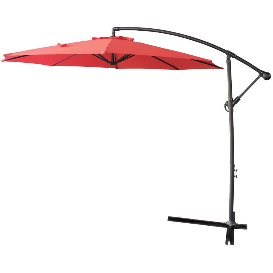 INSTYLE OUTDOOR:10' Cherry Red Offset Umbrella