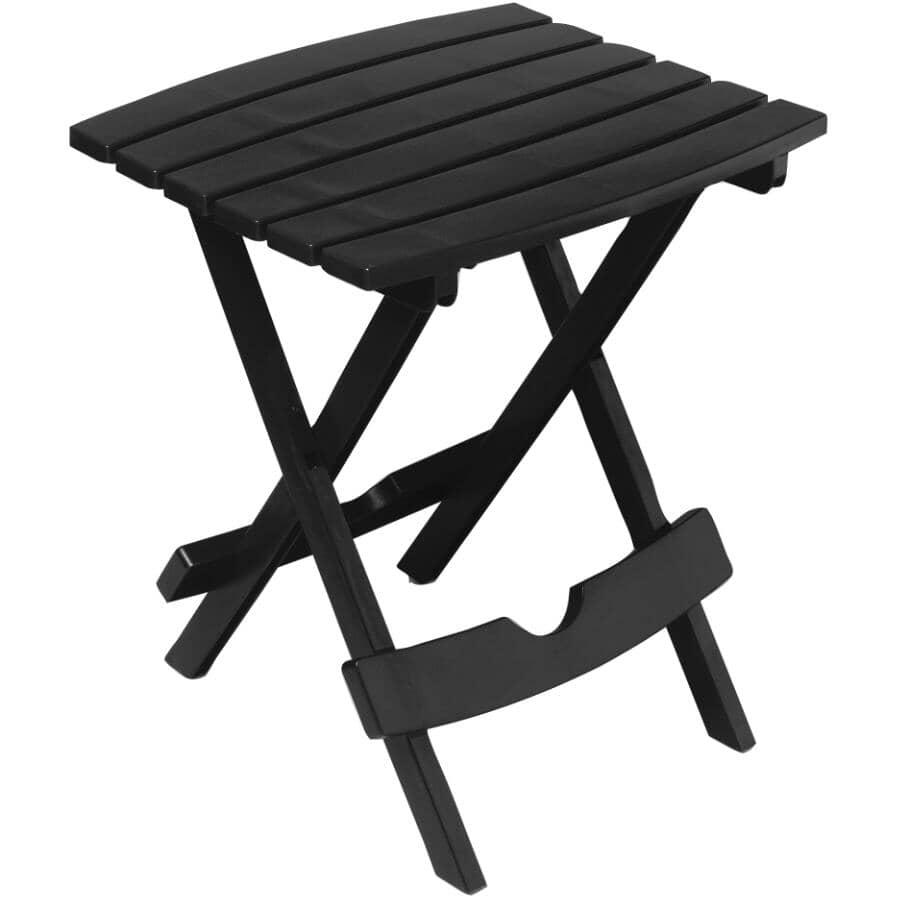 "ADAMS:15"" x 17"" Black Resin Folding Side Table"