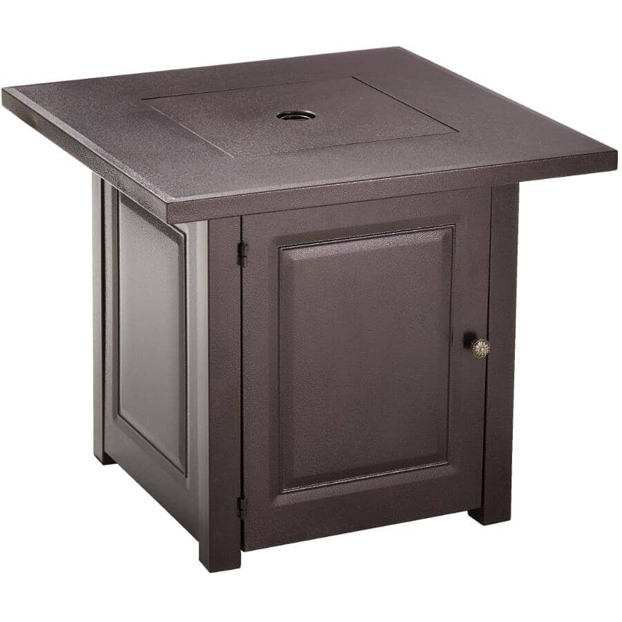 "HILAND:28"" Bronze Propane Firepit Table"
