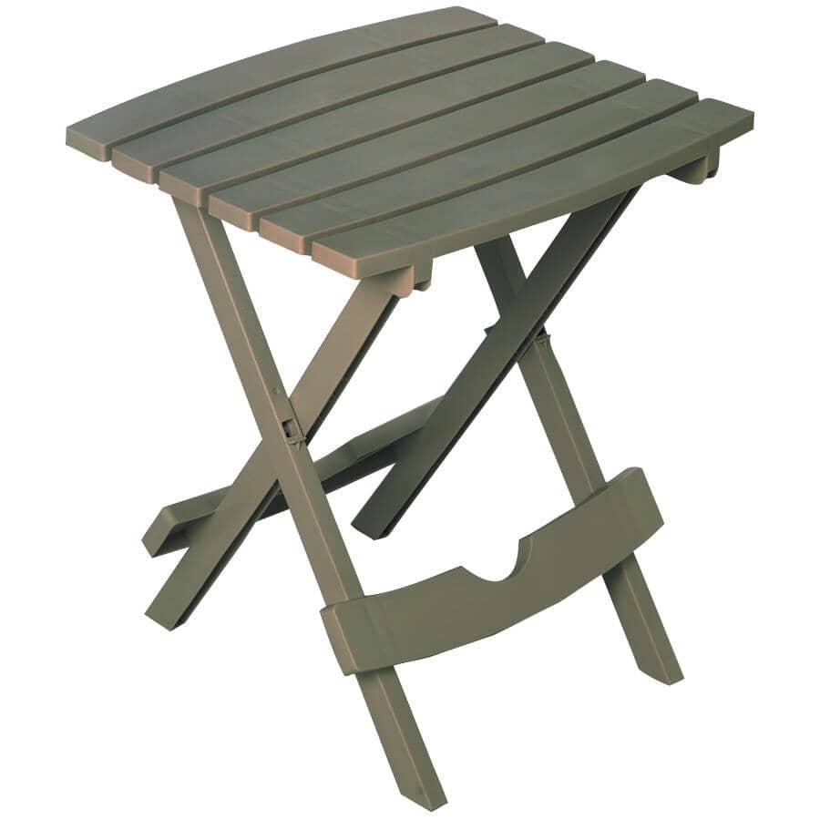 ADAMS:Table d'appoint pliante de 15 po x 17 po en résine, gris