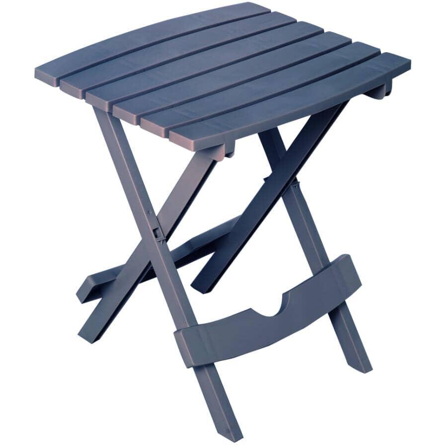 """ADAMS:15"""" x 17"""" Bluestone Resin Folding Side Table"""