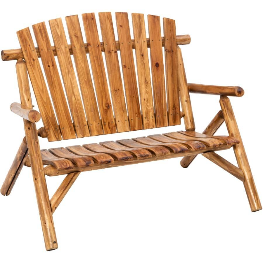 NORTH WOODS:Rustic Wood Log Bench