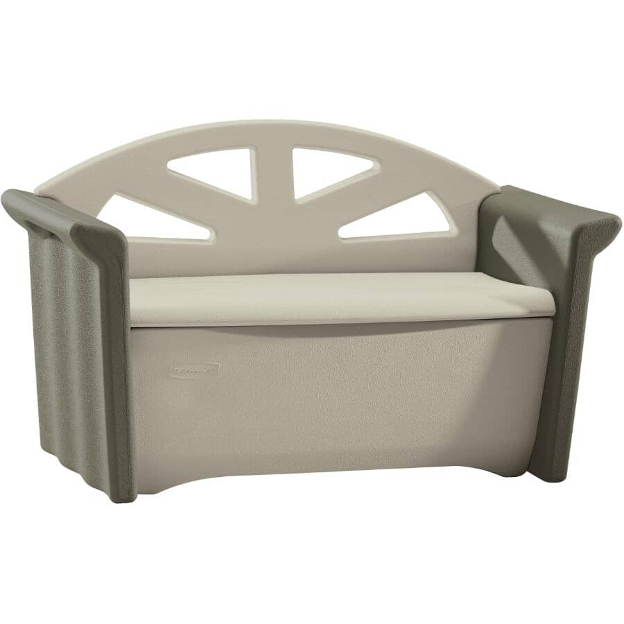 RUBBERMAID:Patio Bench, with Storage Compartment