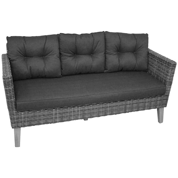 INSTYLE OUTDOOR:3 Seat Seville Wicker Sofa, with Cushions