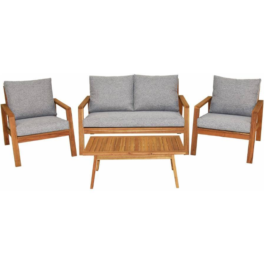 INSTYLE OUTDOOR:Sutton Wood Conversation Set - 4 Piece