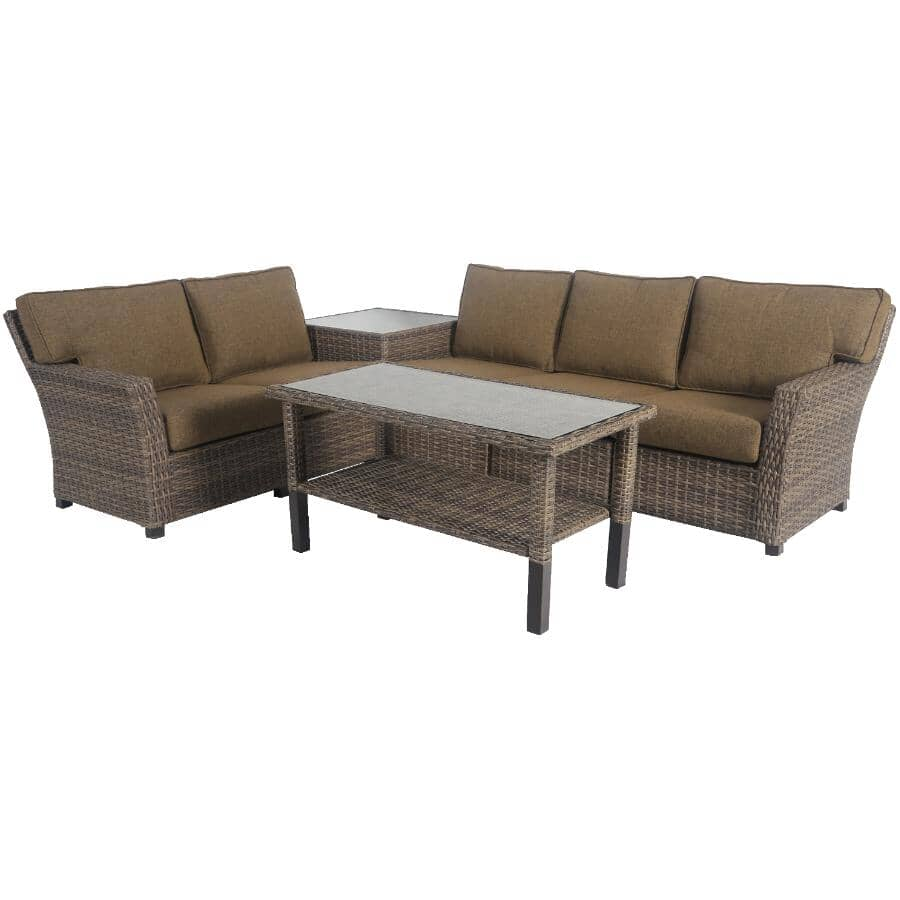 INSTYLE OUTDOOR:7 Piece Sedona Fully Woven Wicker Sectional Set