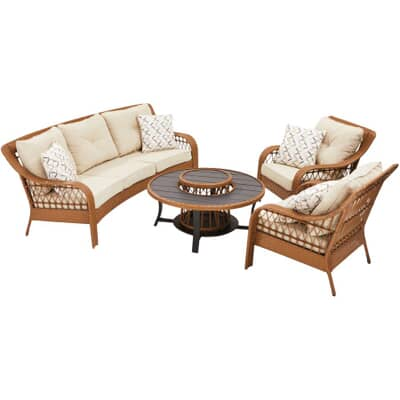 Seattle Wicker Conversation Set, Patio Furniture Home Hardware