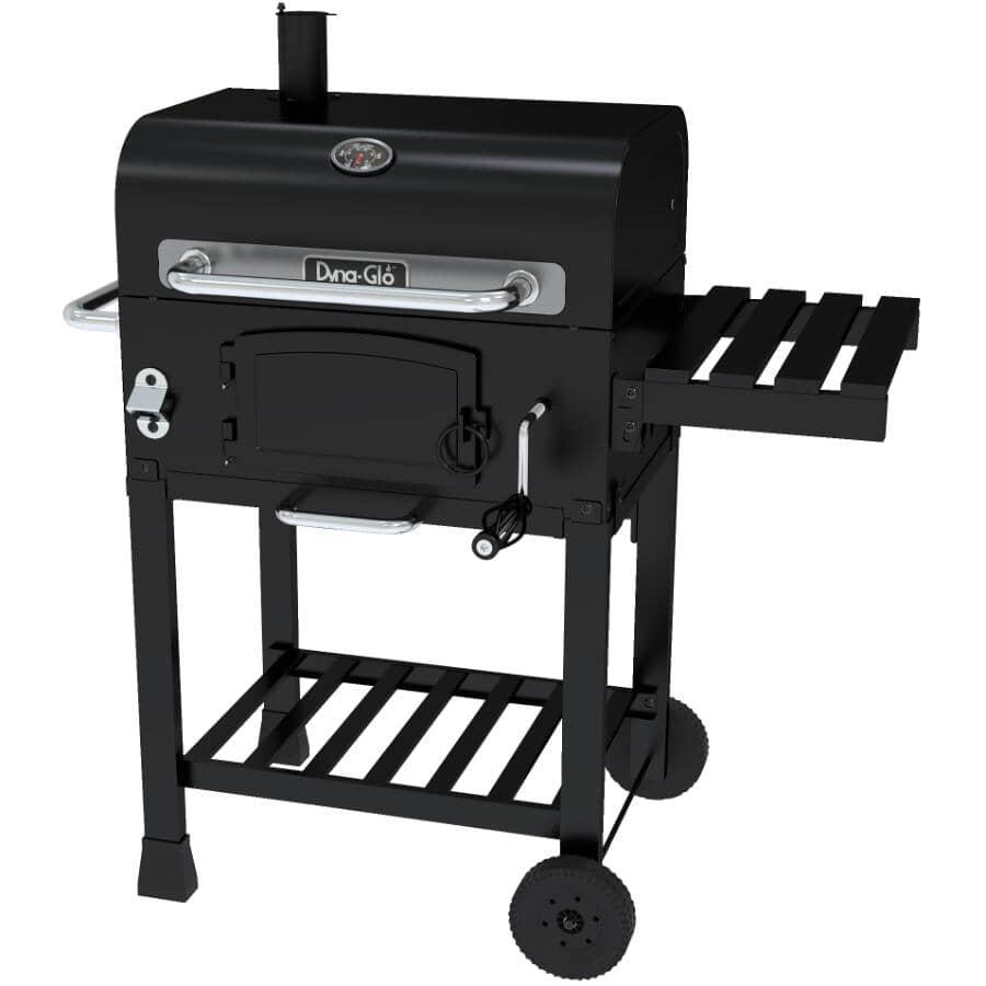 DYNA-GLO:Fumoir et barbecue au charbon de bois noir de 546 pouces carrés