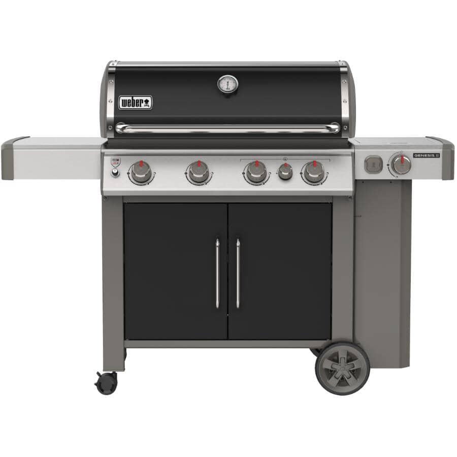 WEBER:Genesis II E-435 Black Propane BBQ - 4 Burners + Side Burner