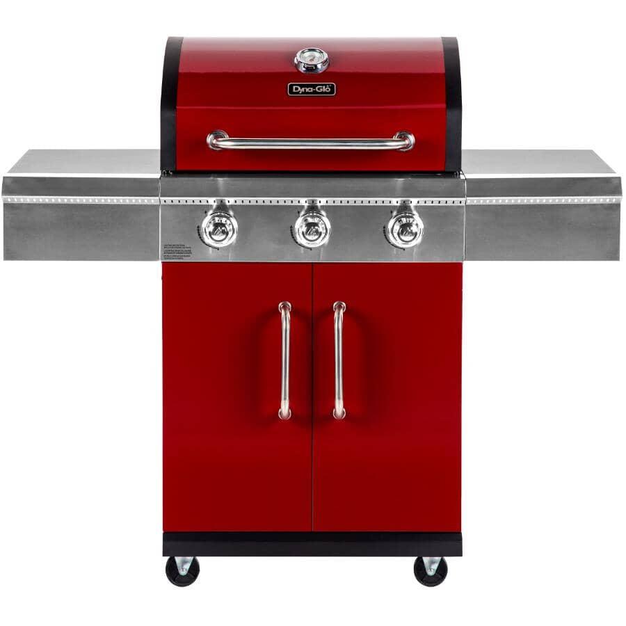 DYNA-GLO:Barbecue rouge au propane à 3 brûleurs