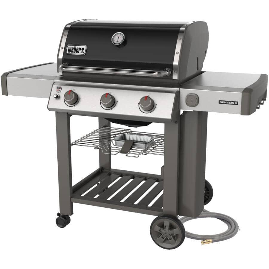 WEBER:Barbecue noir au gaz naturel Genesis II E-310 à 3 brûleurs