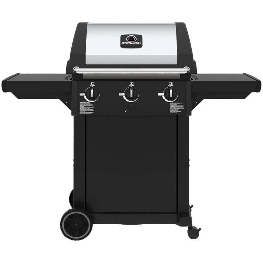 STERLING:Black Natural Gas BBQ - 3 Burner