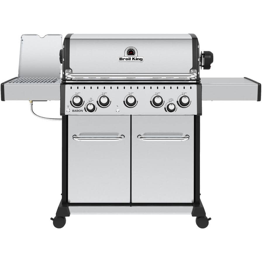 BROIL KING:Baron S590 Pro Natural Gas BBQ - 5 Burner + Infra-Red Side & Rotisserie Burners