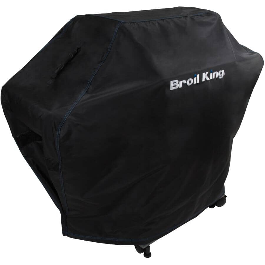 """BROIL KING:64"""" x 23"""" x 45.5"""" PVC Barbecue Cover, with Polyester Backing"""