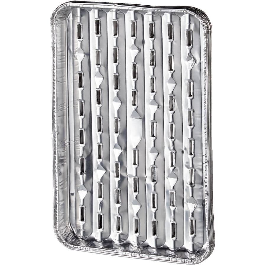 BETTER BARBEQUES:Paquet de 5 plateaux en aluminium de 9 po x 13,5 po pour barbecue