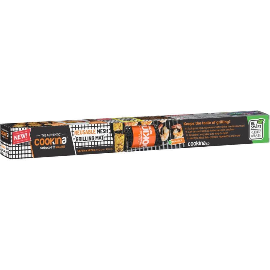 """COOKINA:Reusable Mesh Grilling Mat - 15.75"""" x 15.75"""""""