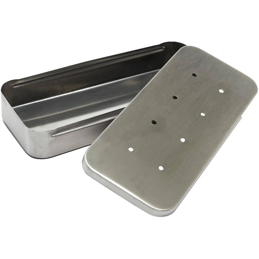 """GRILLPRO:9"""" x 4"""" Stainless Steel Barbecue Smoker Box"""