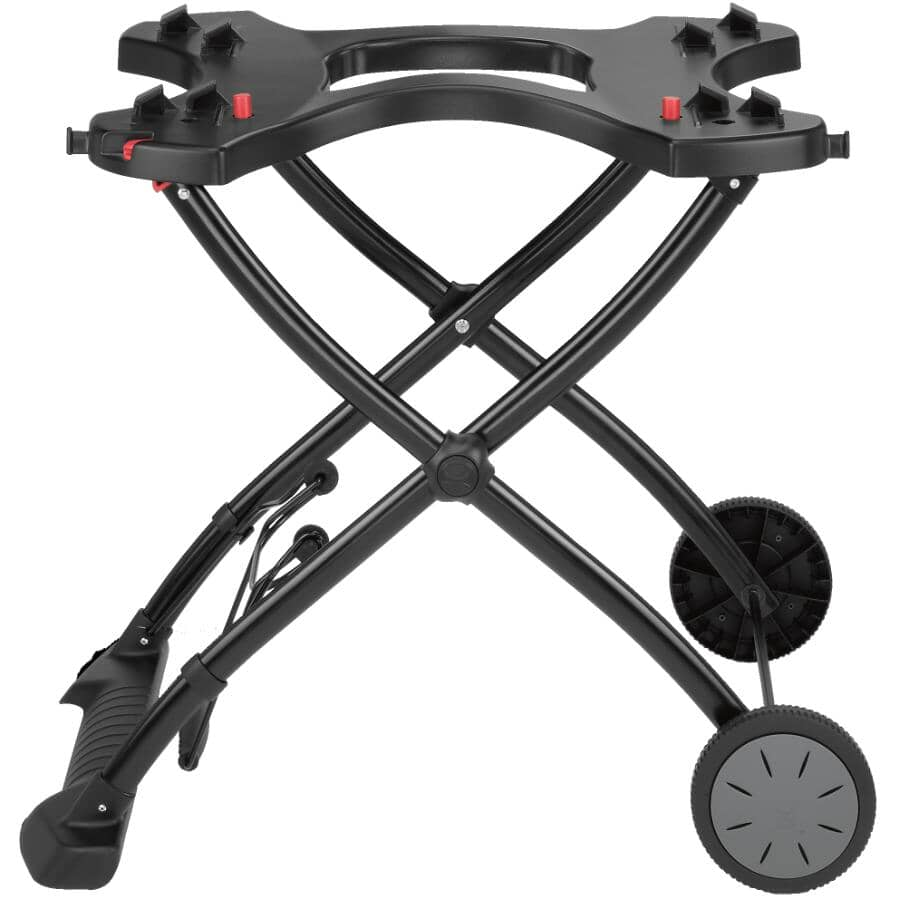 WEBER:Q Portable Grill BBQ Cart - with 2 Tool Hooks