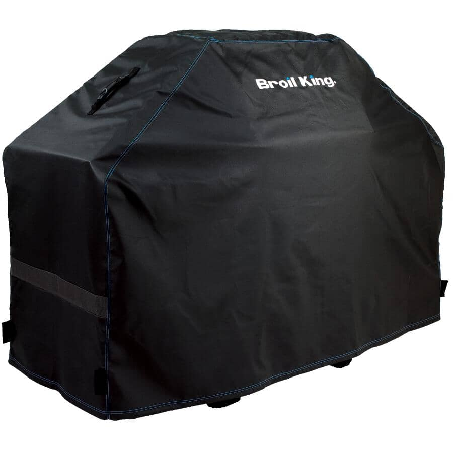 """BROIL KING:63"""" x 25"""" x 46"""" PVC Barbecue Cover, with Polyester Backing"""