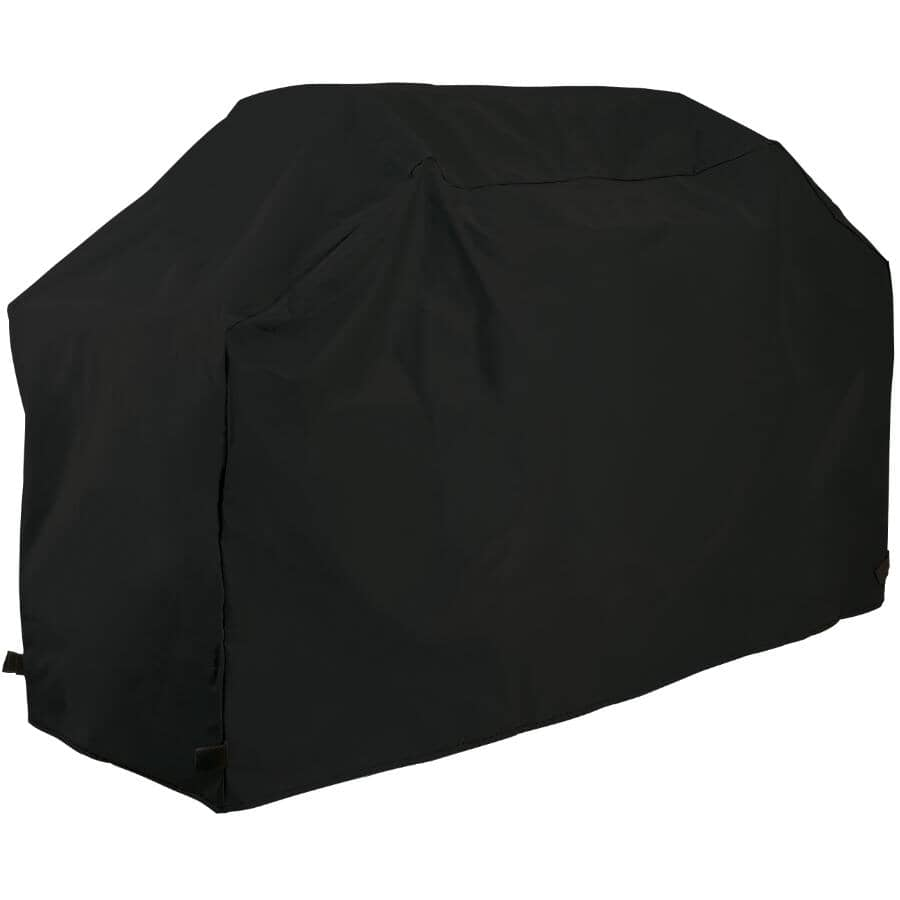 """GRILLPRO:65"""" x 23"""" x 42"""" Black Polyester Barbecue Cover"""