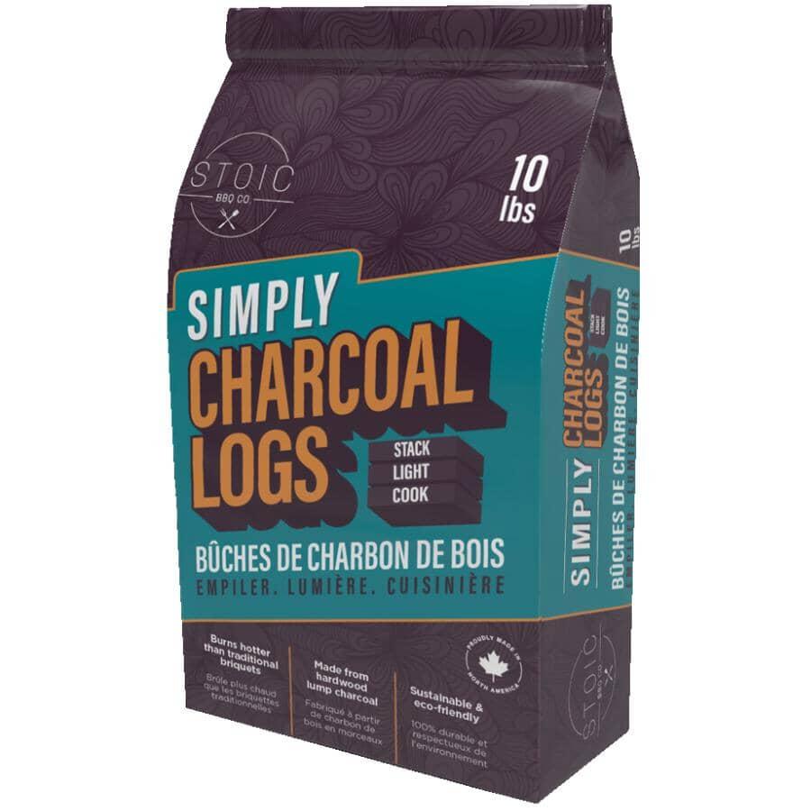 STOIC BBQ CO.:Natural Charcoal Log Briquets - 4.54 kg