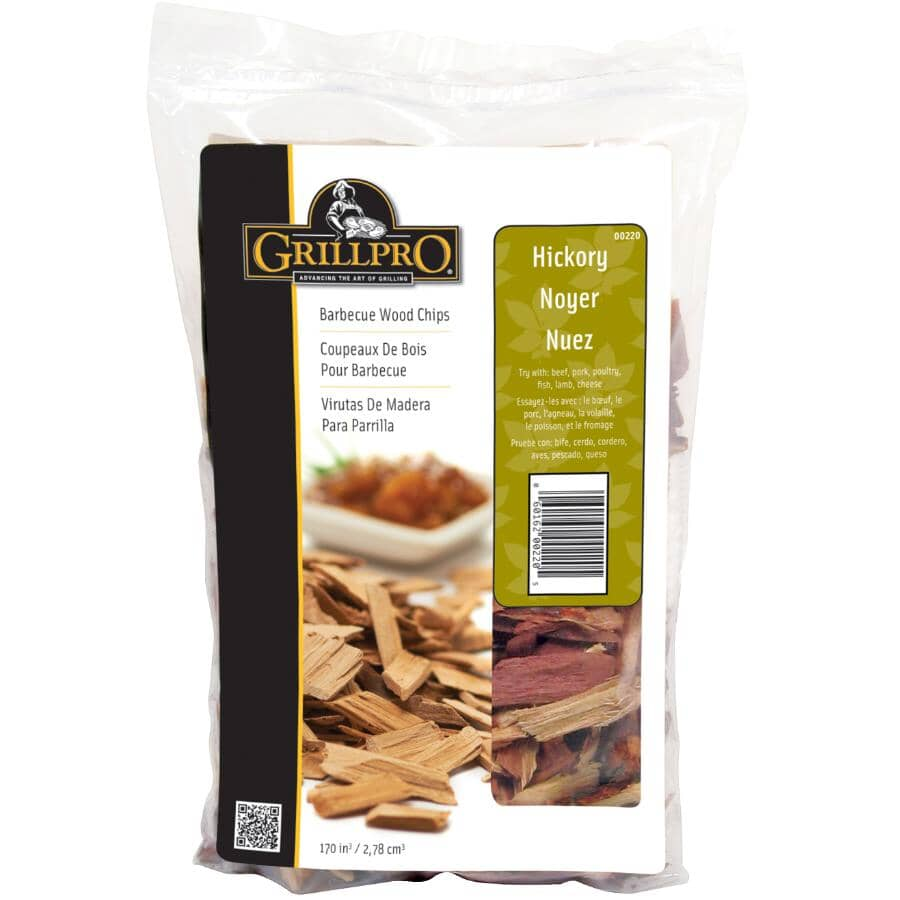 GRILLPRO:Hickory Wood Chips - 2 lb