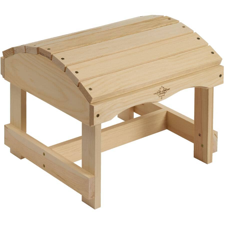 COUNTRY COMFORT:Unfinished Cape Code Pine Ottoman
