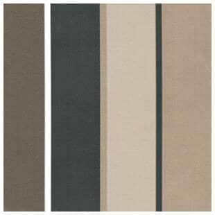 "BOZANTO:16"" Square Throw Pillow - Multi-Colour Stripe"