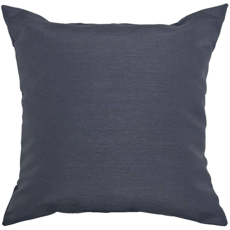 "BOZANTO:16"" Square Throw Pillow - Solid Navy"