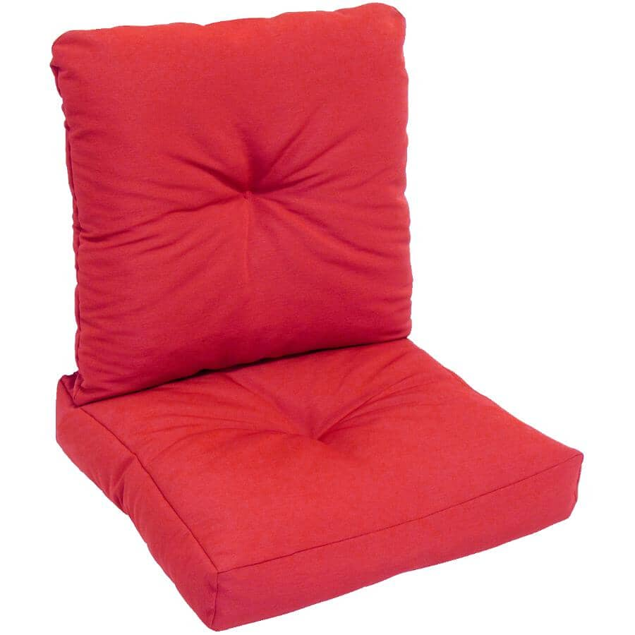 BOZANTO:Solid Red Deep Seat Cushion