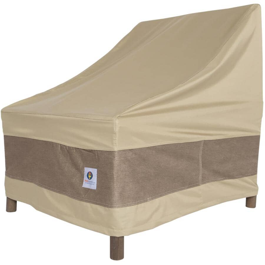 """CLASSIC ACCESSORIES:28"""" x 30"""" x 49"""" Brown Stackable Chair Cover"""