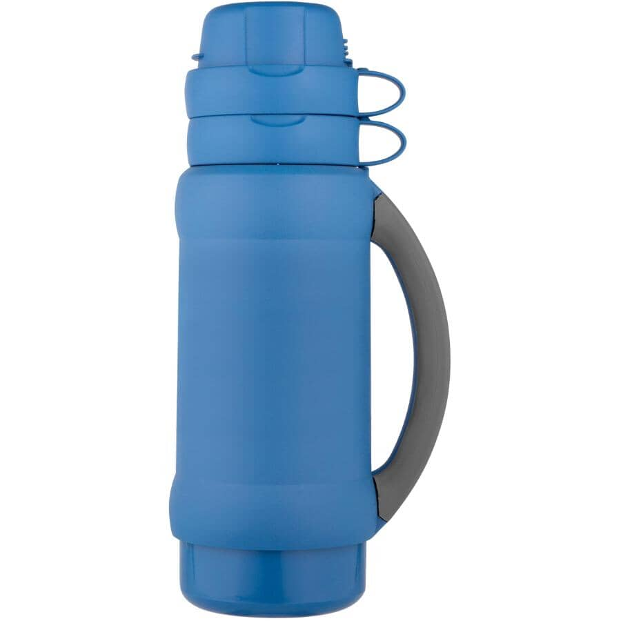 THERMOS:Add-A-Cup Vacuum Insulated Beverage Bottle - Assorted Colours, 1 L