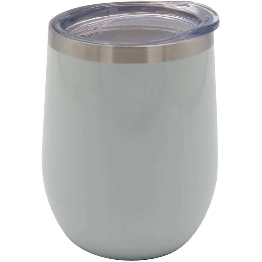 KURAIDORI:12oz Thermal Stemless Wine Glass - Light Grey