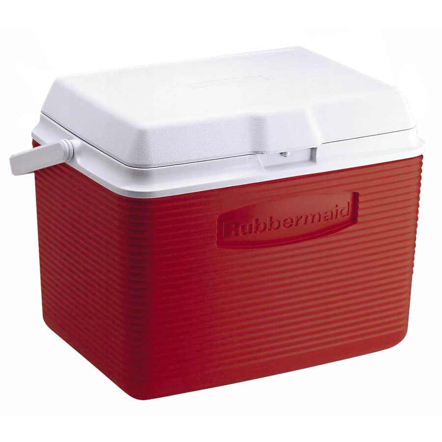 RUBBERMAID:24 Quart Red Victory Cooler