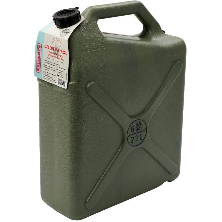 RELIANCE:Cruche d'eau verte Desert Patrol de 23 l