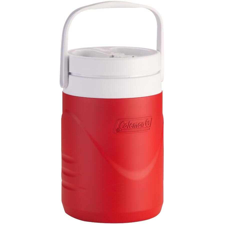COLEMAN:1 Gallon Red Wide Mouth Beverage Jug
