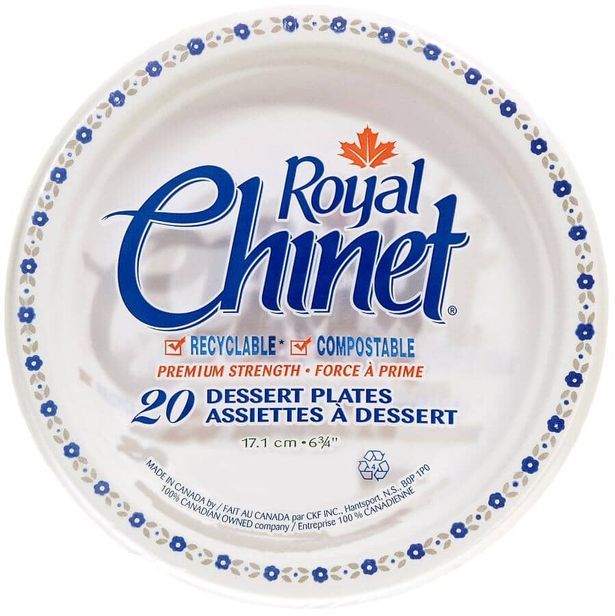 ROYAL CHINET:Disposable Dessert Plates - 20 Pack