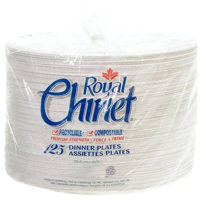ROYAL CHINET:Disposable Dinner Plates - 125 Pack