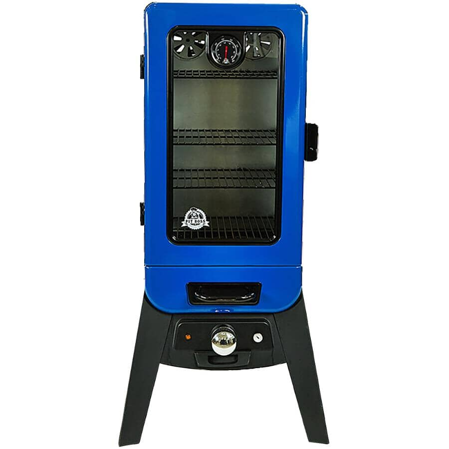 PIT BOSS:748 sq. in. 1500W Analogue Electric Smoker - Vertical + Blue