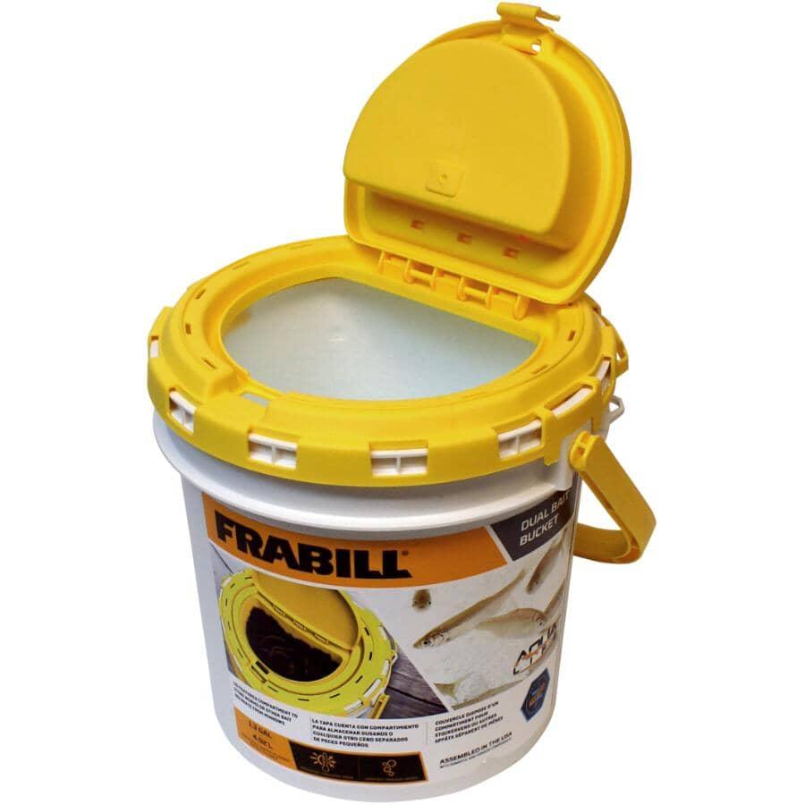 FRABILL:1.3gal Plastic Minnow Bucket