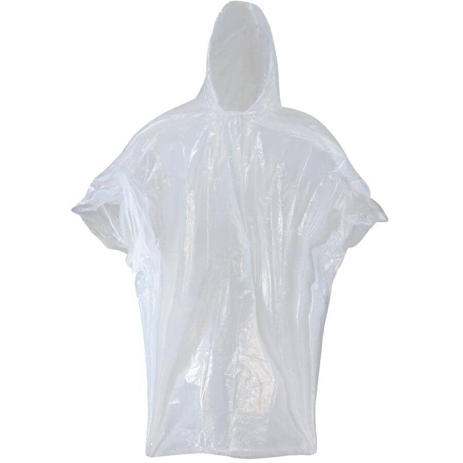 WESTCHESTER:Emergency Rain Poncho - One Size, Clear